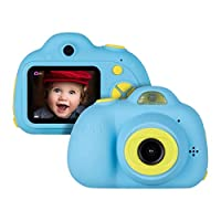 Miavogo Kids Camera Digital - Rechargeable Mini Selfie Camera 1080p for Boys Girls, 2 inch Screen Camera HD Video Capable with Flash and 4X Digital Zoom, Blue