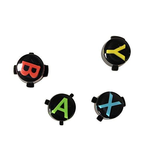 Timorn ricambio ABXY neri Bottoni set personalizzato Mod per XBOX un controller (5 Imposta) - Abxy Pulsanti