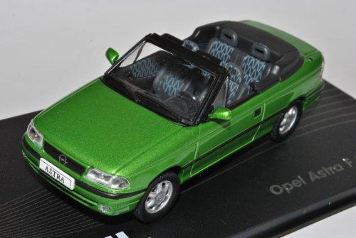 Opel Astra F Cabriolet Grün 1992-1998 1/43 Modellcarsonline Modell Auto mit individiuellem Wunschkennzeichen