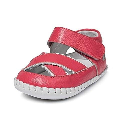 Little Blue Lamb , Chaussures premiers pas pour bébé (fille) Rouge melone rot 18-24 mois