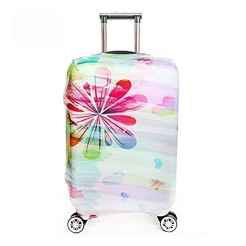 """OneSky-UK Housse de bagage, housse de protection personnalisée et durable, taille de protection de valise adaptée à 18-32 pouces (L(25-28"""")Fleur colorée)"""