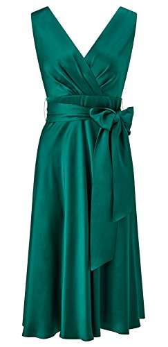 Belladonna Satin Fit and Flare Dress