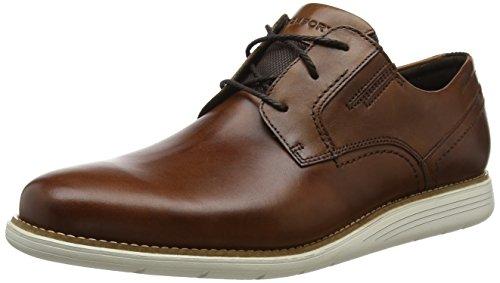 Rockport Herren Total Motion Sport Dress Plain Toe Shoe Oxfords, Braun (Tan 001), 43 EU Motion Oxford
