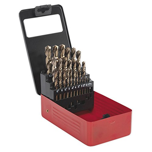 The Sealey AK4702 is a brilliant set with a wide selection ranging from 1mm to 13mm. The split tip is a great feature as it reduces the need for a centre mark and the option of re-sharpening the drill bits ensures you have high-performing bits throughout.