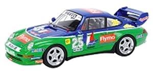 Schuco Dickie 450888100-Número de Porsche 911Cup, Start 25, Tipo 993, Emmanuel Collard, Winner 1996Porsche Super Cup, Resin, Escala 1: 43, Color Azul y Verde