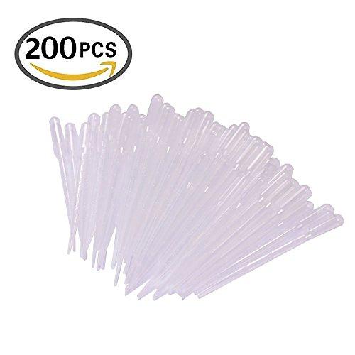KeeKa 200x 3ml Messpipette Futterpipette Transferpipette Pipette Dropper Polyethylen zum Experiment Medizin Malen
