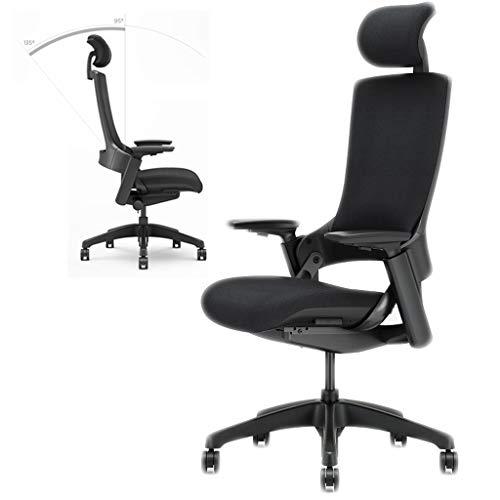 wlnkj sedia da ufficio ergonomica, poggiatesta regolabile/lombare/bracciolo 135 ° reclinabile regolazione sedia da lavoro girevole efficiente da lavoro - studio/gioco