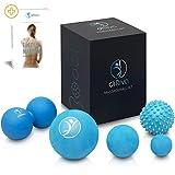 diRiva Faszien Ball - [5er Set] in verschiedenen Größen & unterschiedlichen Härtegraden - inkl. E-Book - Premium Massageball Set für gezielte Triggerpunkt Therapie & Selbstmassage - Duoball, Igelball, Faszienball
