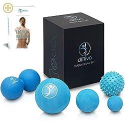 diRiva Faszien Ball - [5er Set] in verschiedenen Größen & unterschiedlichen Härtegraden - inkl. E-Book - Premium Massageball Set für gezielte Triggerpunkt Therapie & Selbstmassage