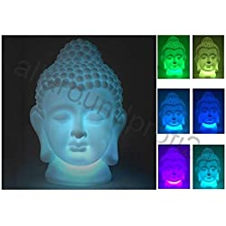 Buda lámpara decorativa lámpara decorativa lámpara LED 18 cm Con Cambio de color jardín lámpara + 10 pilas gratis