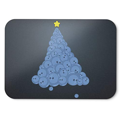 BLAK TEE Bowling Ball Christmas Tree Mouse Pad 18 x 22 cm in 3 Colours Black