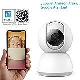AINGOL Caméra de sécurité sans Fil, caméra de Surveillance à Domicile 1080P WiFi IP, caméra panoramique/Inclinaison/Zoom pour Moniteur pour Animaux domestiques/aînés/bébé avec détection