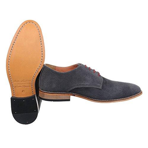 Ital-Design , Chaussures à lacets homme Gris