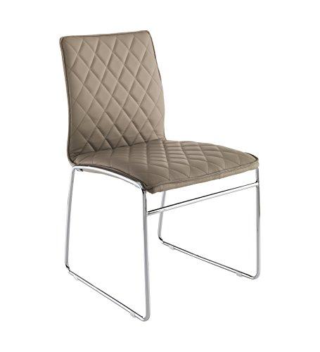 Wink design -Alabama - pièce de 4 chaises tourtelle - simili-cuir