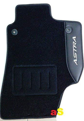 Tappeti su Misura per Opel Astra H dal '04 al '10 con 2 Ricami su Pelle E Bottoni di Fissaggio Set 4PZ