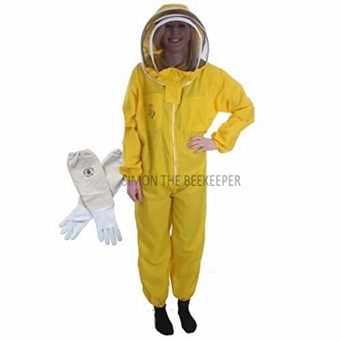 Buzz de clôture de Bee Costume Apiculteur Avec Voile et gants - Jaune