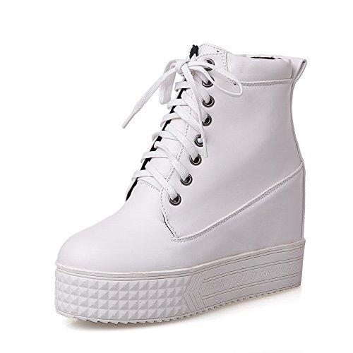 BalaMasa ,  Damen Biker Boots, weiß - weiß - Größe: 38 -