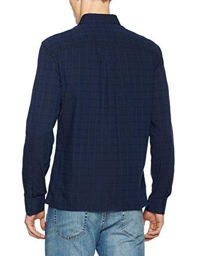 JACK & JONES Herren Freizeithemd Jcomoon Shirt L/S Blau (Sky Captain Checks:Reg Fit)