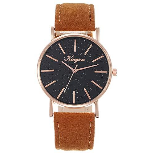 WZFCSAE Frauen Uhren Fashiion reloj Mujer Leder Gürtel Uhr Starry Sky Genf Einfache Gürtel Uhr Bajan kol saati