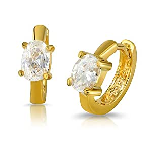 Mahi Daily Wear Fashion Pure Exuberance Hoop Earrings of Brass Alloy with crystal for Women ER1100335G