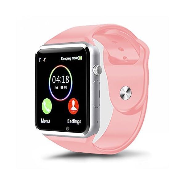 Reloj Inteligente, con Bluetooth y Ranura para Tarjeta SIM para Usar Como Teléfono Móvil. Reloj Deportivo con Rastreador… 2