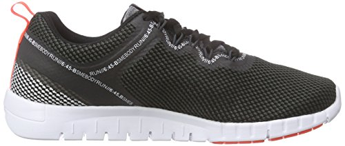 Reebok Damen Zquick Lite Laufschuhe Schwarz (Black/Steel/Atomic Red/White/Gravel)