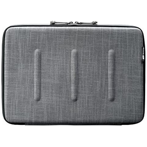 Viper Case 13 Gray. Funda semirígida en nylon moldeado para MacBook Pro / Air / Ultrabook 13. Cremallera Impermeable. Diseño trabajo integrado.