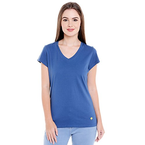 SUPIMA WOMENS T-SHIRT DEEP BLUE (X-Large)