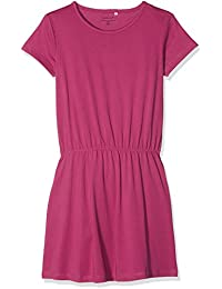 Name It Nkfvelvet Ss Solid Dress H, Vestito Bambina