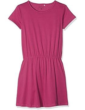 NAME IT Mädchen Kleid Nkfvelvet Ss Solid Dress H