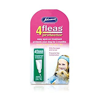 Johnsons 4 Fleas Protector for Small Dogs & Puppies 0.6kg-6kg 30g - Bulk Deal of 6x 7