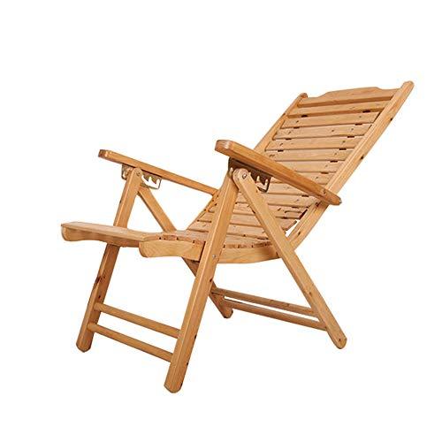 FRHLH Freizeit Stuhl Startseite faltbare Holz Lounge Chair Erwachsene Mittagspause Stuhl Sommer Freizeit Stuhl Outdoor Hocker Bambus Stuhl -