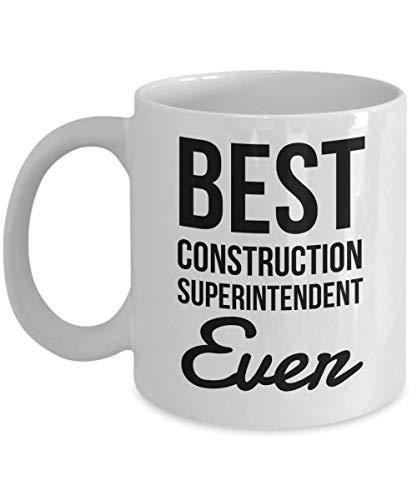 Dozili Lustige Kaffeetasse – Baumeister Superintendent Geschenke – Best Ever Kaffeetassen, Neuheit Geschenk Ideen, 325 ml, Weiß