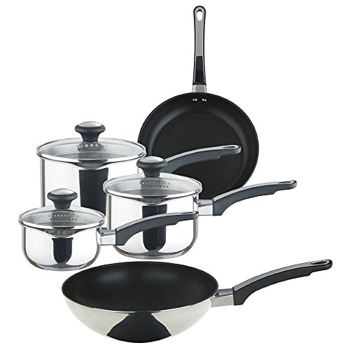 Prestige 77352 Stainless Steel 5 Piece Non-Stick Cookware Set - Brand New