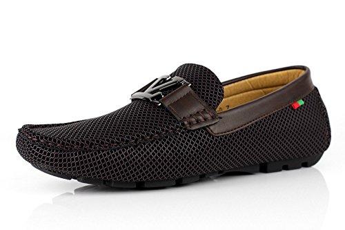 Jas da uomo da infilare mocassini scarpe firmate casual guida alla moda - caffè, 40