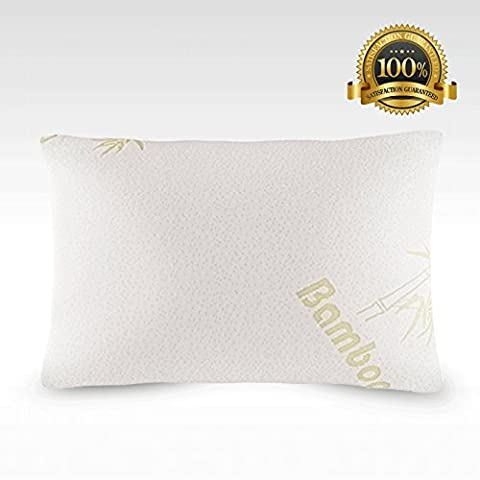 Bamboo Cool Orthopaedic Pillow for Neck Pain, Cooling Anti Snore Pillows for Sleeping, Shredded Memory Flake Foam, Hypoallergenic, Relieves from Migraines, Asthma & Allergy Relief, Queen Size - Medio Dei Dipendenti Regalo