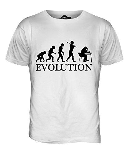 CandyMix Bibliothekar Evolution Des Menschen Herren T Shirt Weiß