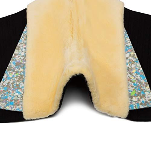 CHRIST Verbundschaum-Einlagen passend zur Satteldecke für den Fellsattel IBERICA Plus Polster zur Druckentlastung oder Korrektur (Paar, 15 mm Polsterstärke), Größe Warmblut und Pony