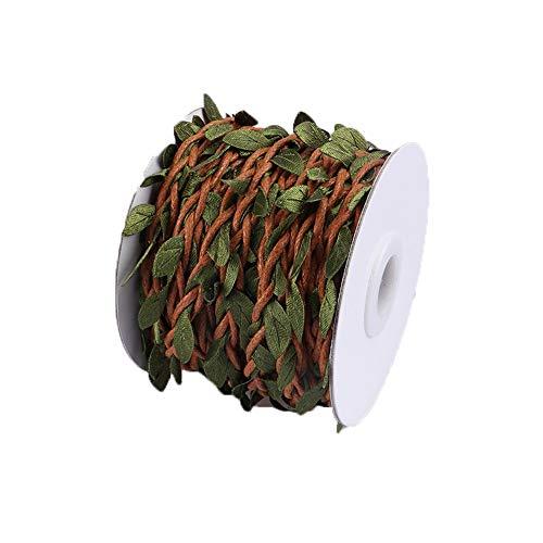 il Hanfseil -10m DIY handgemachte Rattan Farbe dekorative Seil grüne Weinblätter Deep Forest dekorative Hanfseil handgewebtes Material Zubehör - eine Vielzahl von Stilen - gemischt ()