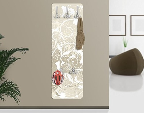 Wandgarderobe - Perlmutt Ornament Design, Größe:139cm x 46cm