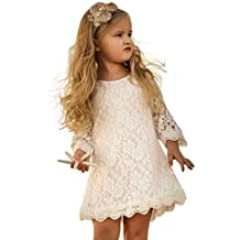 Cutiego chicas Vestido de la flor rústica de la alineada de flores e8f022e5bcff