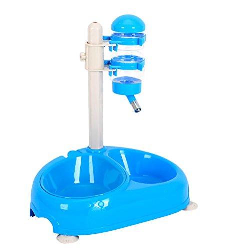 DAN Hundekatze-Multifunktionsautomatik-Zufuhr-Teil-Kontrollwasser-Zufuhr-Schüssel,Blue (Nachfüllen Schüssel)