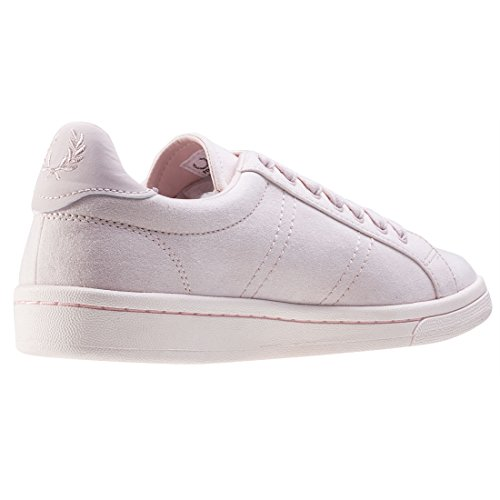 Fred Perry Brushed Cotton Court Fille Baskets Mode Rose Blush Pink