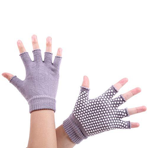 MEREDENG Halbe Fingerhandschuhe Frauen Männer Fitnesstraining Sport Golves Männliche Rutschfeste Fahrrad Half Finger Handschuhe Handschuhe Weibliche Reckhandschuhe-Grau