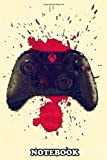 Notebook: Xbox Controller With Blood , Journal for Writing, College Ruled Size 6' x 9', 110 Pages