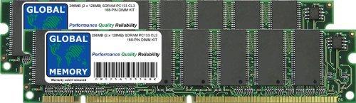 GLOBAL MEMORY 256MB (2 x 128MB) PC133 133MHz 168-PIN SDRAM DIMM ARBEITSSPEICHER RAM KIT FÜR PC DESKTOPS/MAINBOARDS -