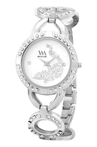 Watch Me Analog White Dial Stainless Steel Metal Strap Girls and Women's Watch WMAL-107-Sqivj1