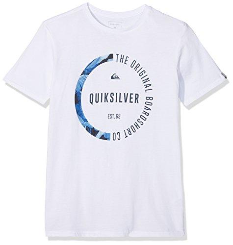 Quiksilver EQYZT04777 Classic Revenge Camiseta, Niños, Blanco (Bright White - Solid), M/12
