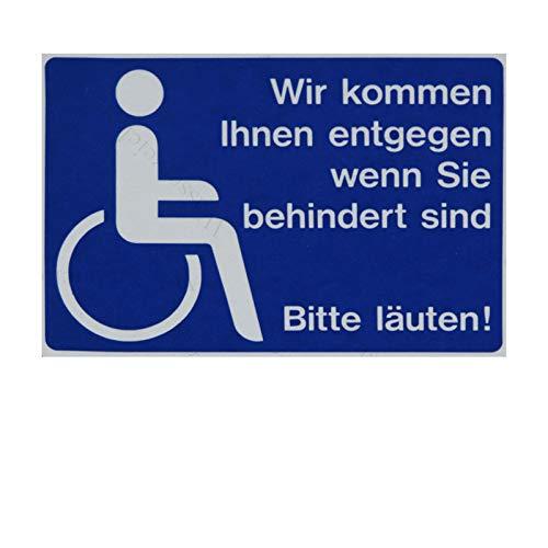 Sticker-Designs 10cm!2Stück!Aufkleber-Folie Wetterfest Made IN Germany Behindertengerecht WC Rollstuhlfahrer Parplatz Hilfe Bitte läuten klingel S978 UV&Waschanlagenfest-Auto-Sticker ProfiQualität
