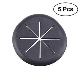 OUNONA Kabeldurchführung Kabeldurchlass Schreibtischdurchlass 5 Stück (Schwarz)